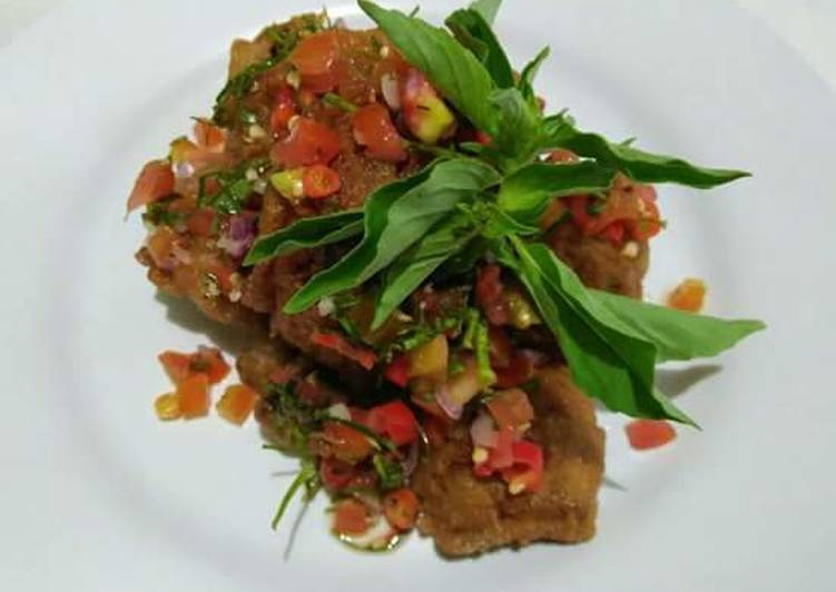 Resep: Belut krispy with sambal dabu-dabu