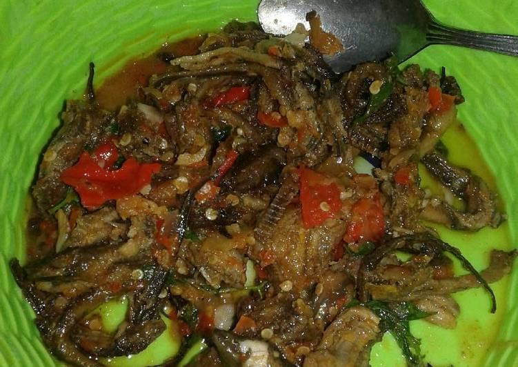 Cara Mudah memasak Sambal Belut kemangi enak