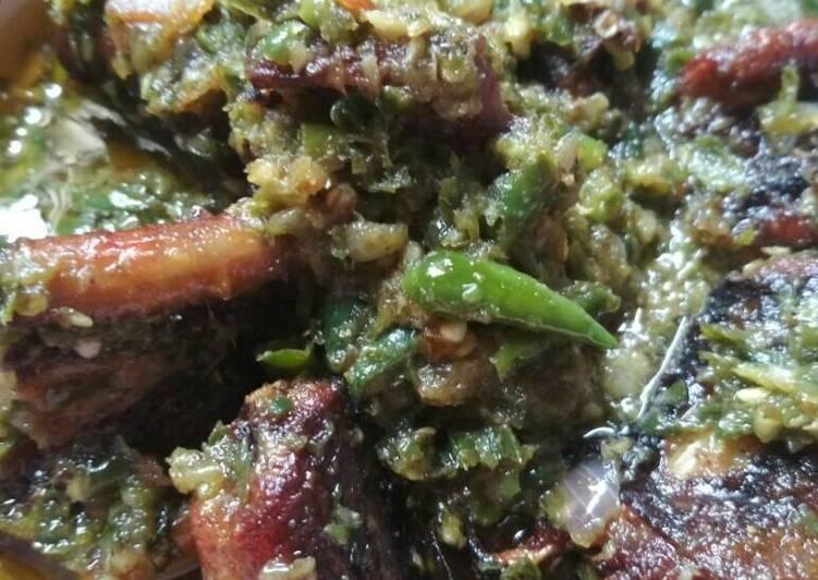 Cara memasak Belut sambal cabai hijau