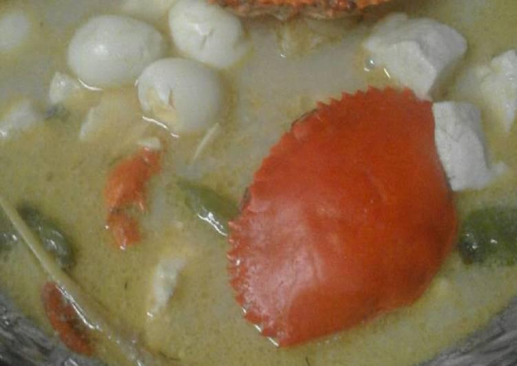 Cara Mudah memasak Kare kepiting telur tahu