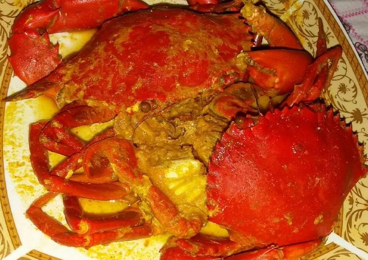 Cara Mudah membuat Kepiting saos kare (sedikit pedas)
