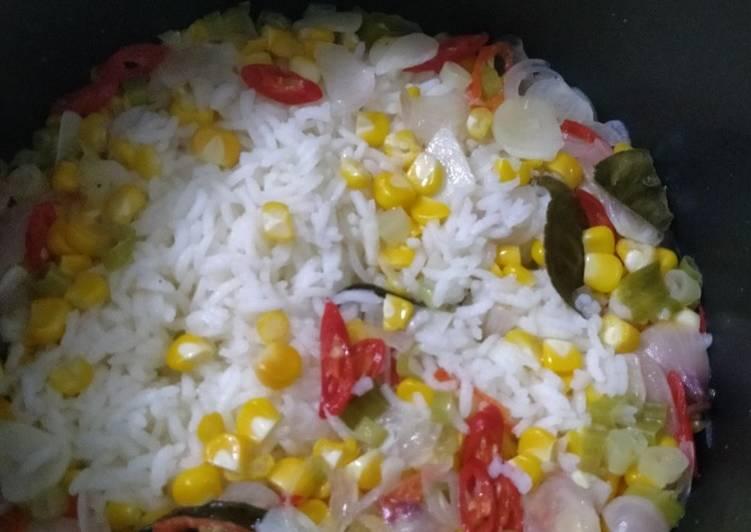 Resep: Nasi jagung sederhana