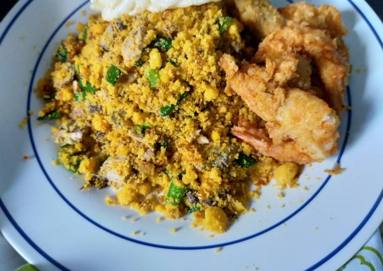 Cara membuat Nasi Jagung Goreng seafood