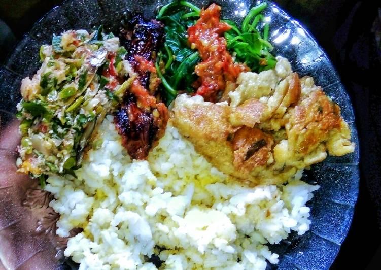 Resep mengolah Sego jagung (pake nasi + jagung)