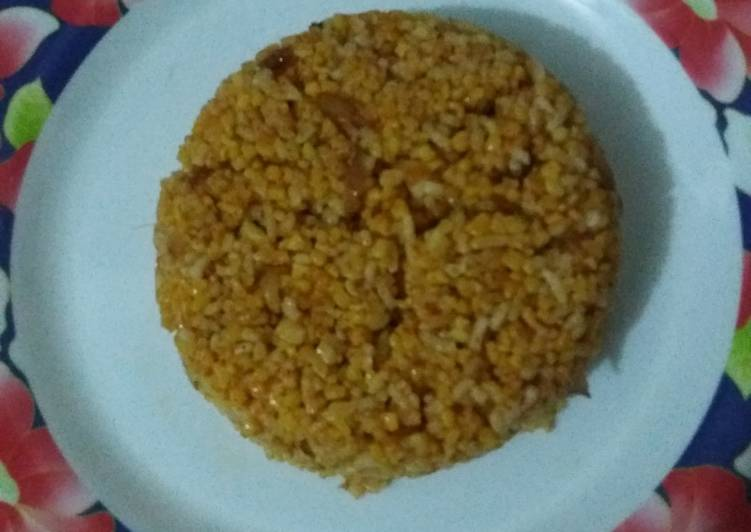 Cara membuat Nasi jagung goreng simple
