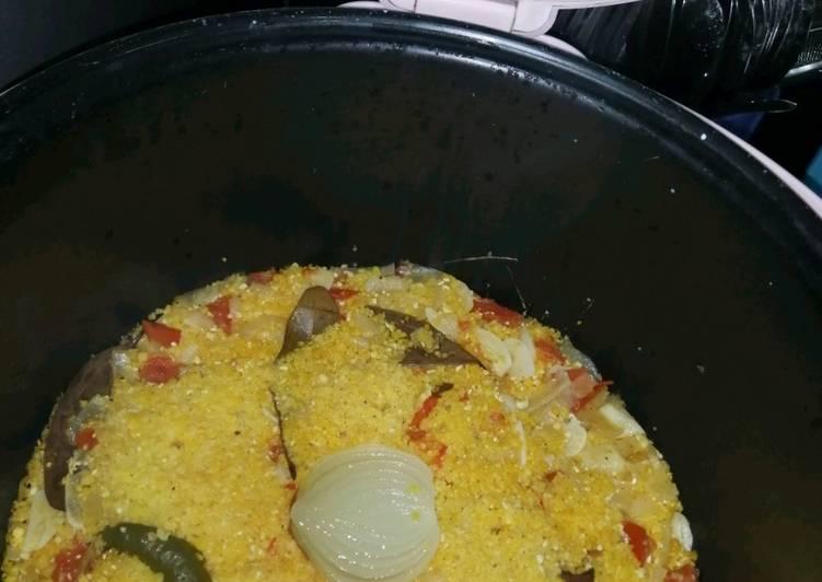 Cara memasak Nasi jagung magicom enak