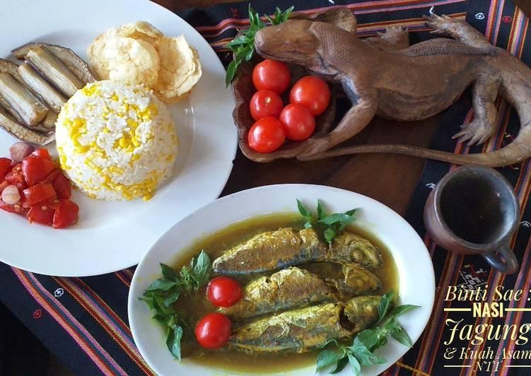 Cara Mudah mengolah Nasi Jagung & Kuah Asam - Flores, NTT