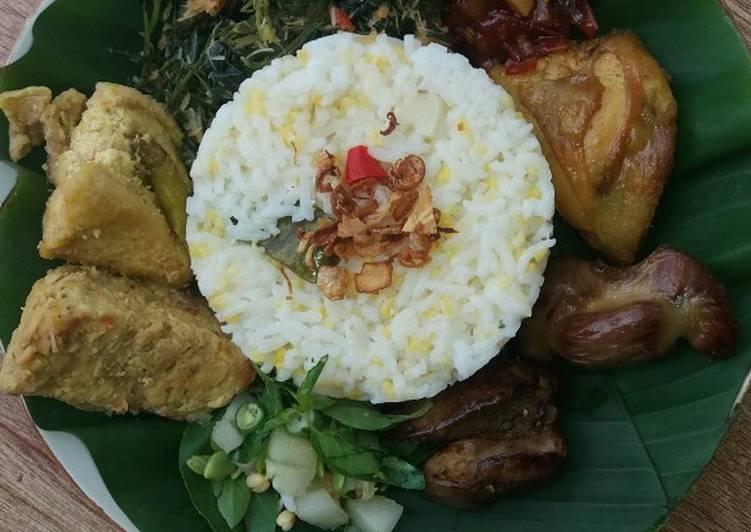 Cara mengolah Nasi jagung liwet gurih pulen simple pakai magicom istimewa