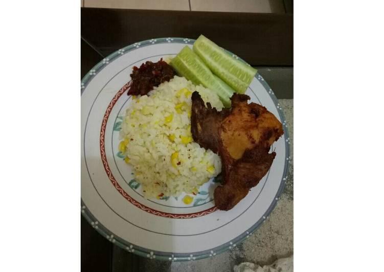 Resep memasak Nasi jagung & ayam kalasan