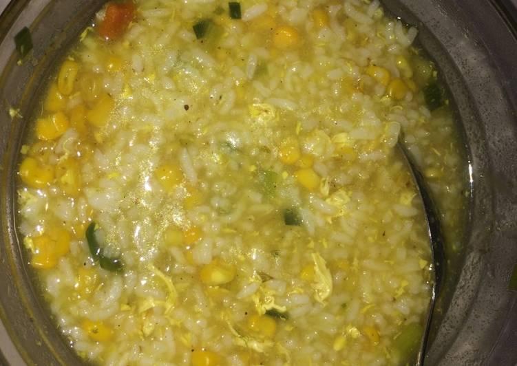 Cara membuat Bubur nasi jagung
