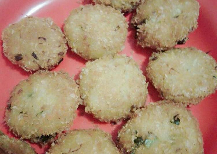 Resep: Perkedel kentang + nasi jagung lezat