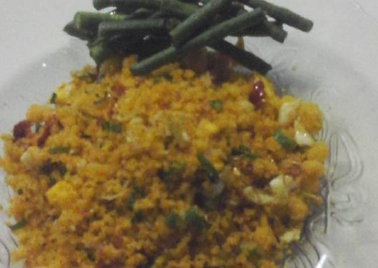 Cara memasak Nasi jagung goreng Ala Alun P.L