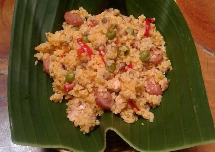 Resep: Nasi jagung gurih istimewa