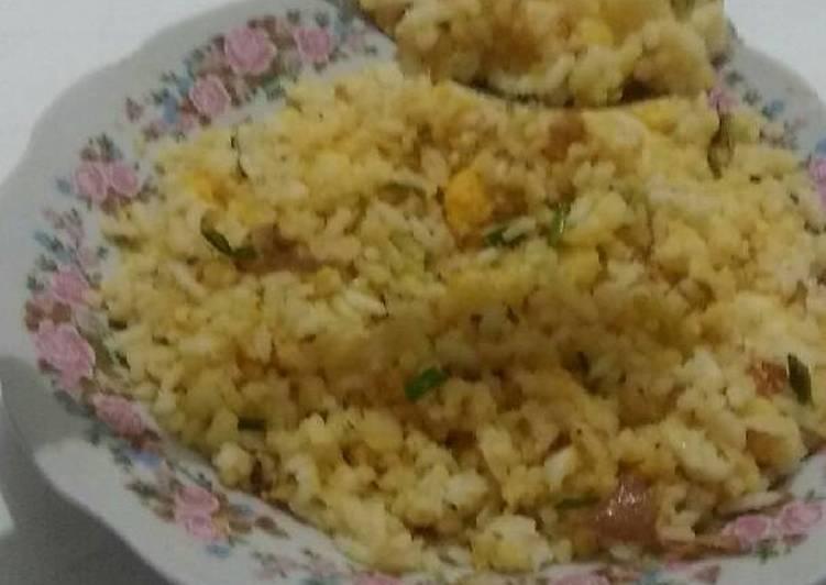 Resep: Nasi Goreng Sego srubuk (Nasi jagung goreng) enak