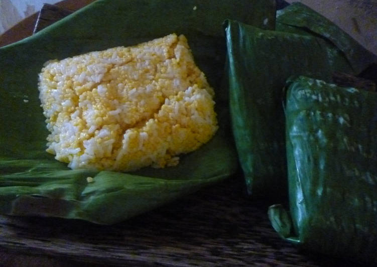 Cara membuat Nasi Jagung Istimewa                        (special roasted corn rice)