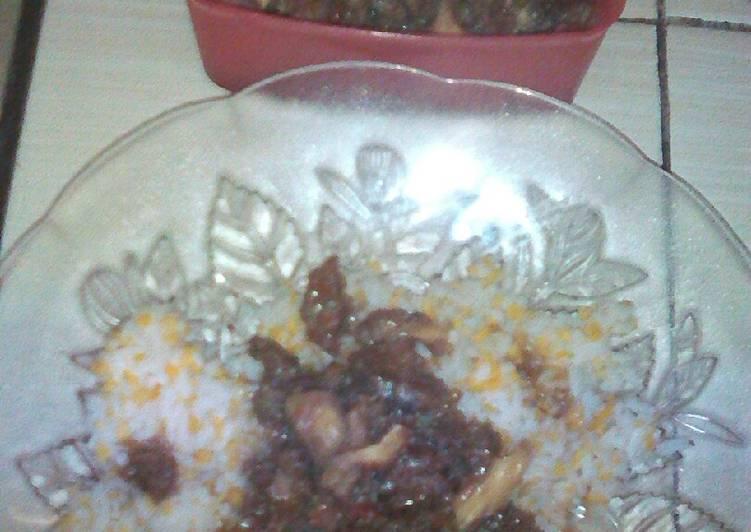 Resep: Nasi jagung babat pedas enak