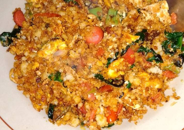 Nasi Jagung goreng sosis