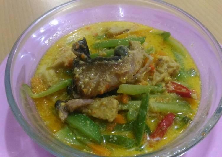 Resep memasak Lodeh labu siam ikan asap pedas enak