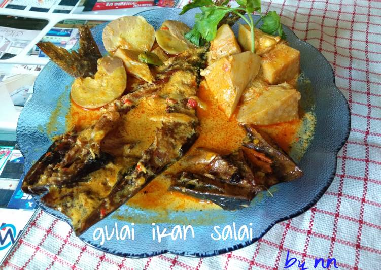 Resep: Gulai ikan salai patin (ikan asap) istimewa