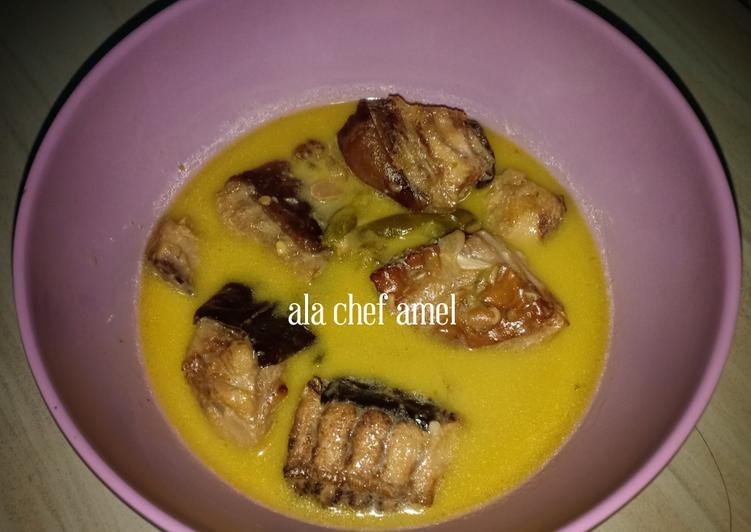 Resep: Ikan asap saus tauco santan istimewa