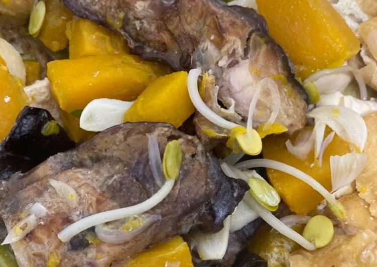 Cara memasak Sayur lodeh waluh ikan asap tahu istimewa