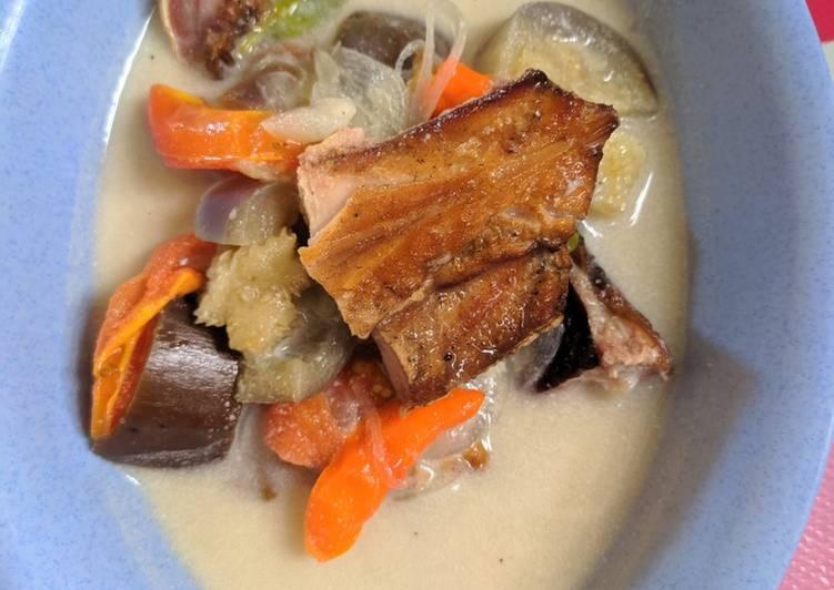 Resep memasak Ikan pari asap santan cabe istimewa