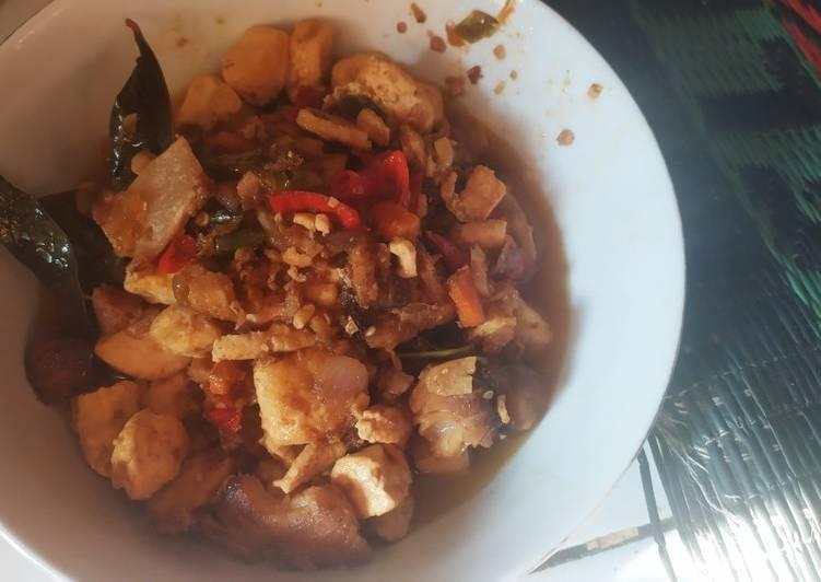 Cara memasak Ikan pari asap tahu putih pedas enak