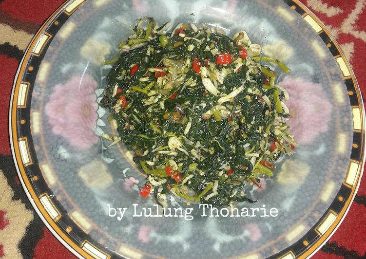 Cara memasak Tumis Pedas Daun Pepaya (tanpa pahit)  a laa PawonLulung lezat