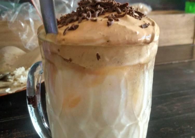Resep: Es dalgona coffe enak