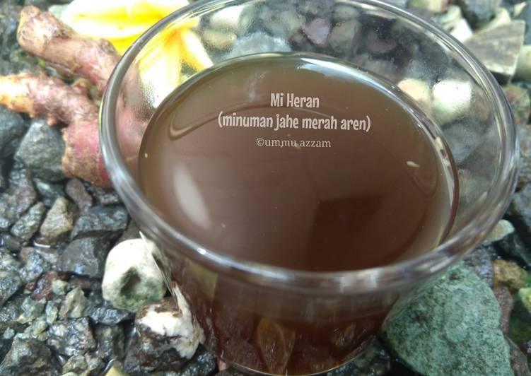 Cara Mudah mengolah Mi Heran (minuman jahe merah aren) lezat