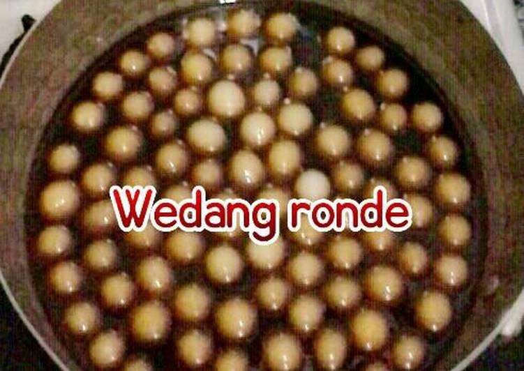 Cara Mudah memasak Wedang ronde kuah jahe gula merah(Tan Yuan)