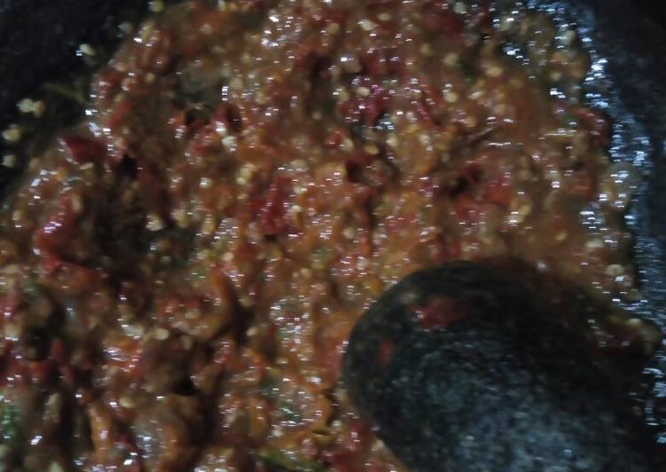 Resep: Sambel terasi goreng enak