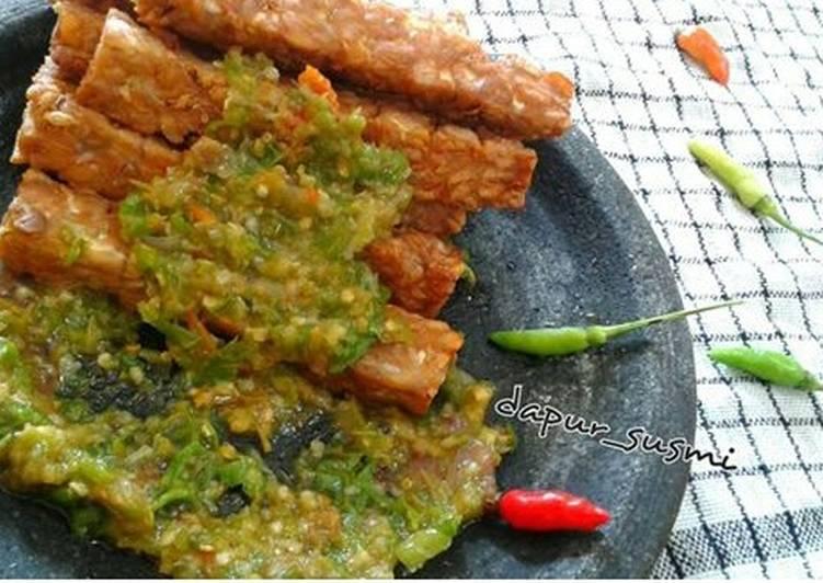 Resep: Tempe sambal ijo