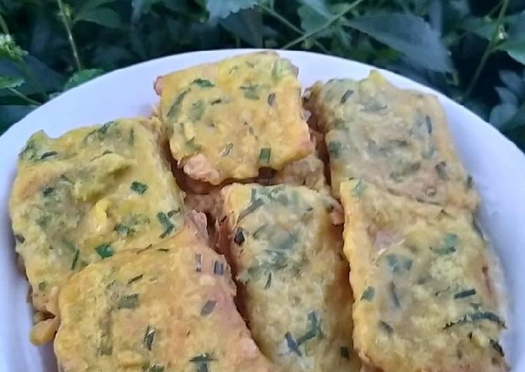 Resep: Tempe goreng tepung daun kucai enak
