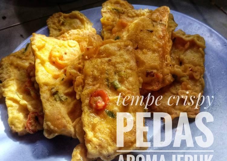 Resep: Tempe goreng tepung crispy pedas aroma jeruk
