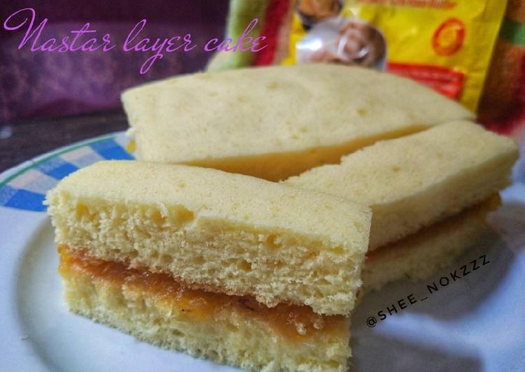 Nastar layer cake (takaran sendok,7 bahan aja)