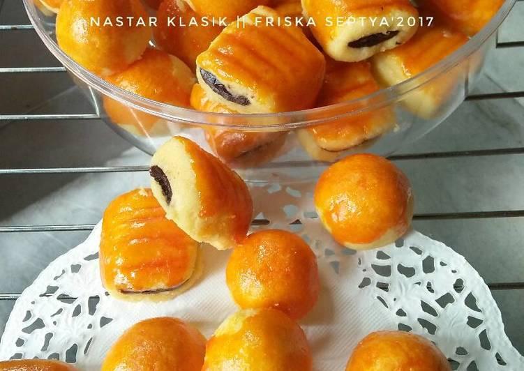Resep: Nastar Klasik (isi nanas dan isi coklat)#Kue Kering enak