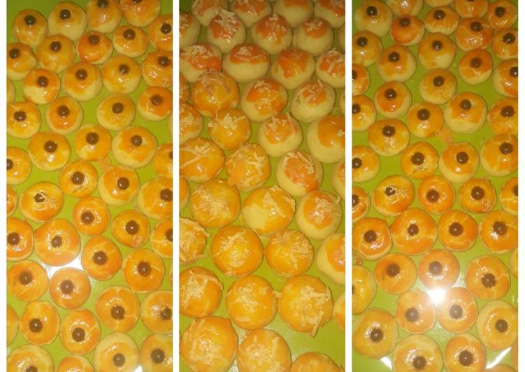 Cara memasak Nastar lumer di mulut perpaduan selai nanas, keju dan chocochip