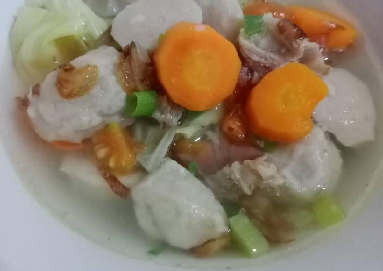 Cara Mudah memasak Sop bakso tetelan sapi istimewa