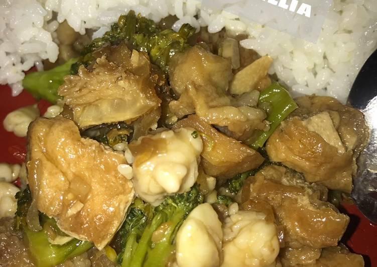 Resep: Tumis tahu brokoli sandung lamur