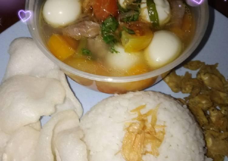 Resep: Sop tetelan sapi telur puyuh