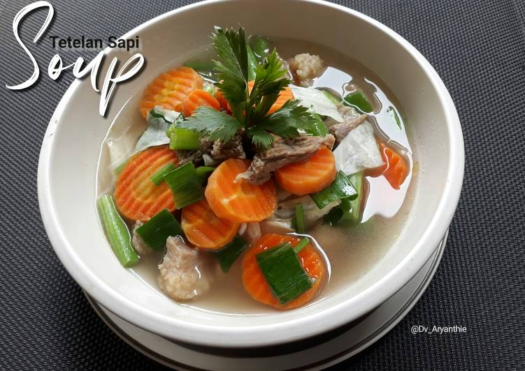 Resep: Soup tetelan sapi