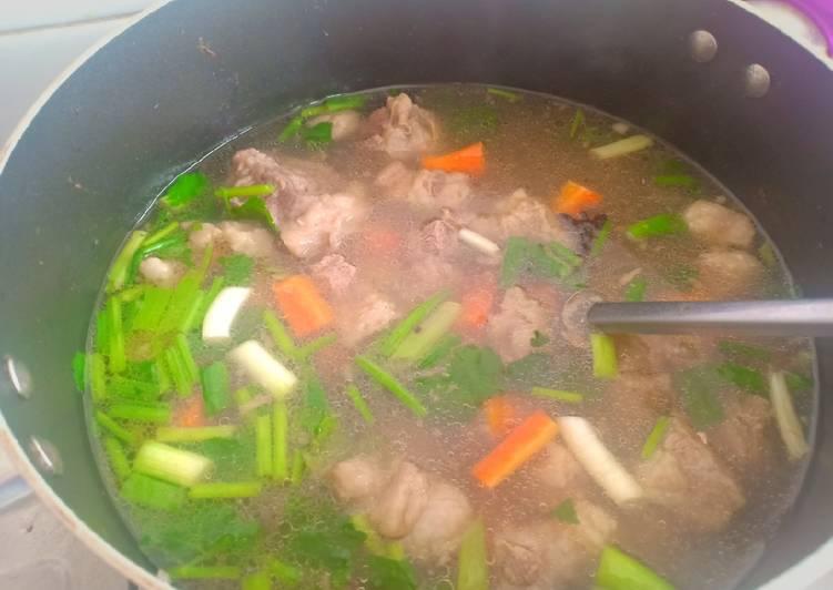 Cara memasak Sup Iga & Tetelan Sapi enak