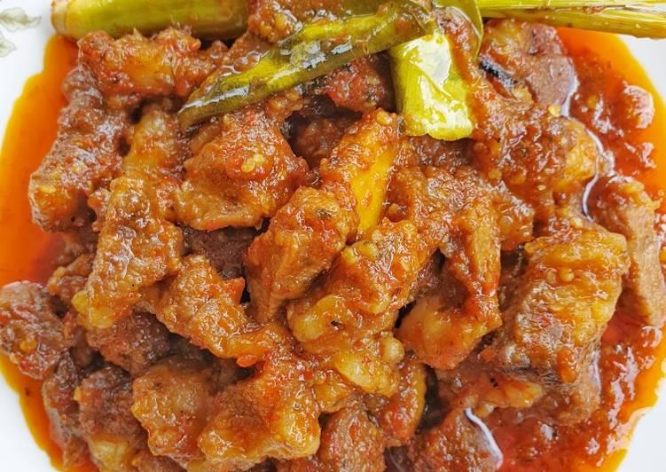 Cara Mudah memasak Oseng mercon daging & tetelan sapi