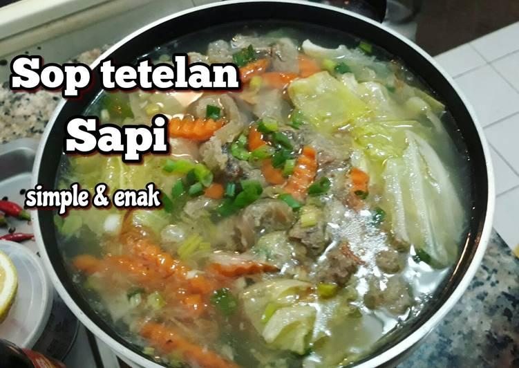 Cara memasak Sop tetelan sapi lezat