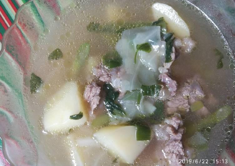 Cara mengolah Sop bening tetelan sapi istimewa