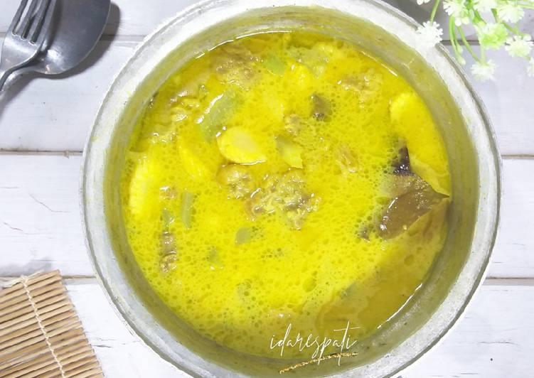 Resep memasak Sandung Lamur Kuah Kuning Tanpa Santan