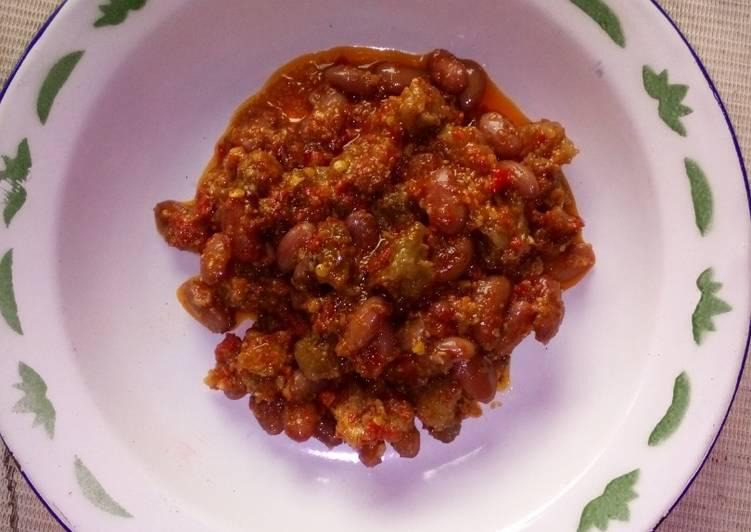 Resep: Kacang merah dan tetelan sapi pedas istimewa
