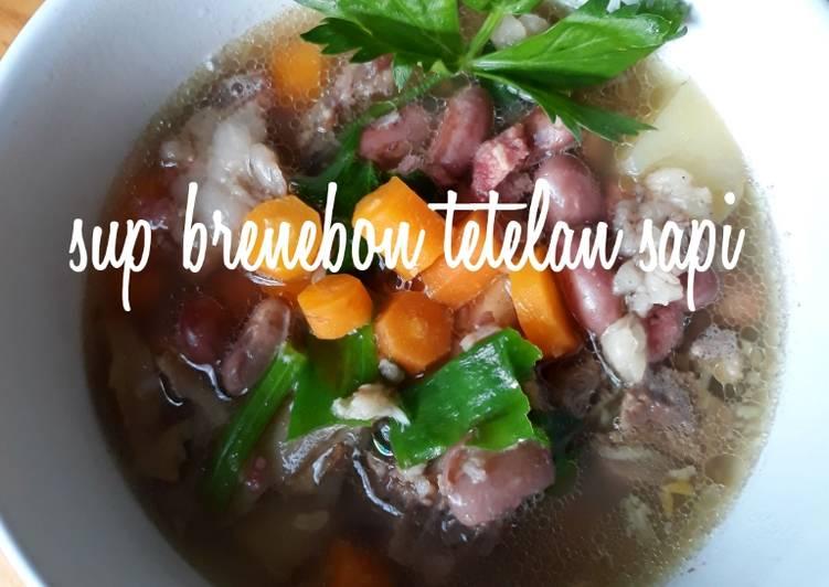 Resep: Sup brenebon tetelan sapi