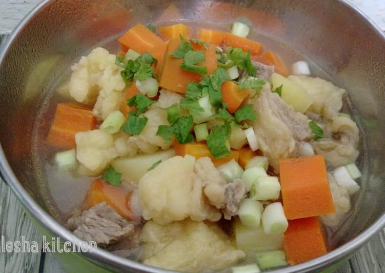 Resep: 331. Sup Daging dan Tetelan Sapi